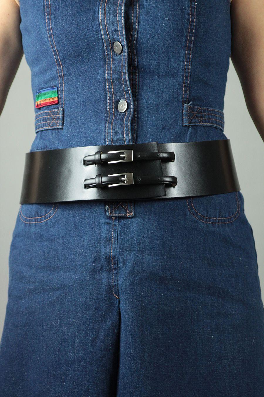 a basso prezzo dd008 71afd Cintura in pelle nera